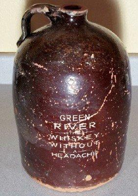 Fake Green River Jug, 12.75 inches tall