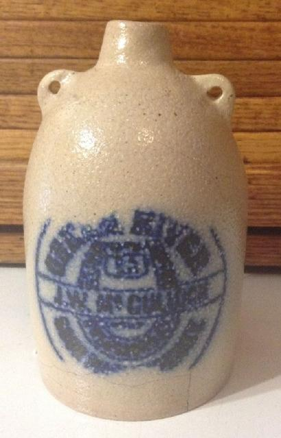 Recently produced fake Green River Whiskey jug. Green River Whiskey jugs did not have bails.