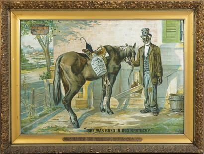 "Genuine ""Classic"" Green River Whiskey Lithograph"