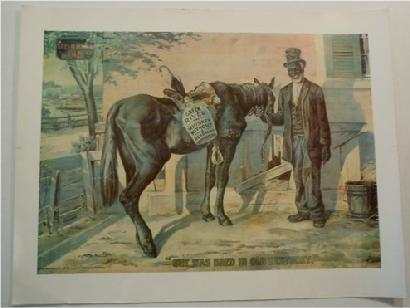 "Reproduction Green River Whiskey ""Lithograph"" Sign (Image: 19 7/8"" x 14 3/8"")"