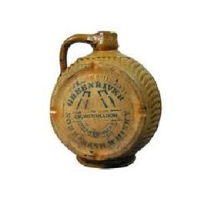 Genuine Green River Whiskey Jug, Canteen Style